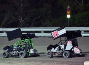 After an early spin, Ryder Wells recovers to a third place finish at Gulf Coast Speedway