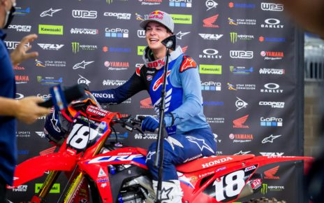 Jett Lawrence wins his first career East 250SX AMA Supercross race at Houston 2. Photo courtesy of Feld Entertainment, Inc.
