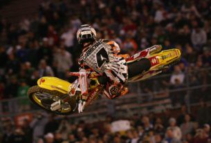 Ricky Carmichael's final Supercross race in Orlando in 2007. Photo Credit: Racer X Illustrated