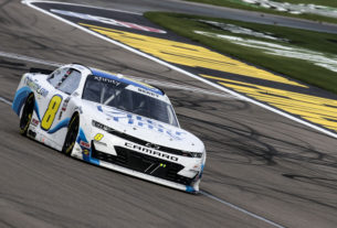 Josh Berry earns his second top 10 of the 2021 NASCAR Xfinity Season at Las Vegas Motor Speedway in the Alsco Uniforms 300. Photo by Rachel Schuoler / Kickin' the Tires.