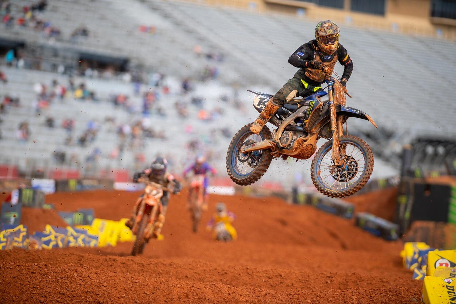 Dylan Ferrandis jumps through the whoops at Atlanta Motor Speedway. Photo by Align Media.