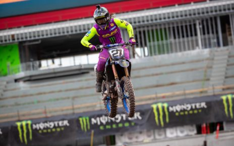 Malcolm Stewart earns first career 450 Supercross podium at Salt Lake City.