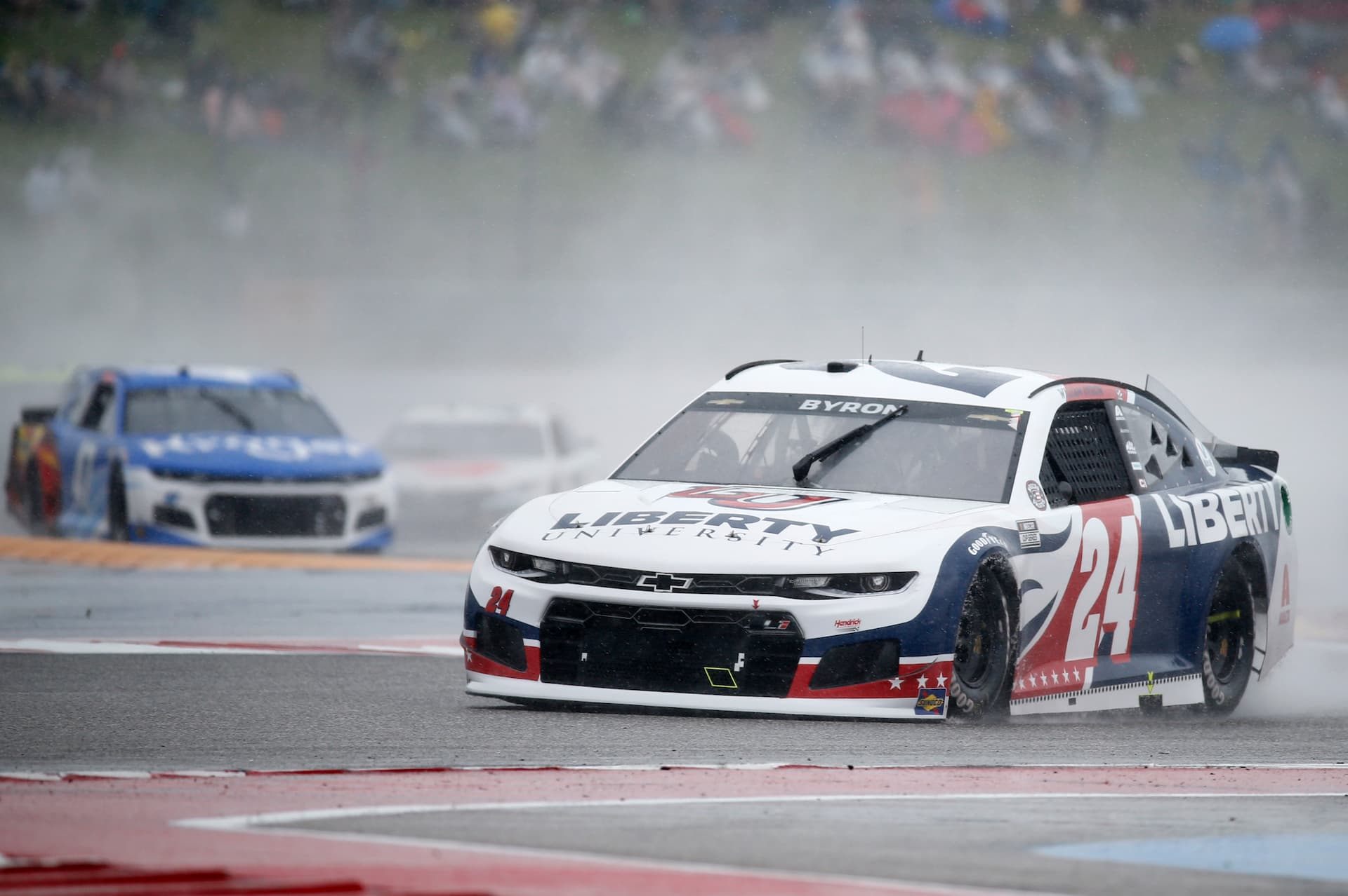 William Byron races through the esses at Circuit of the Americas.