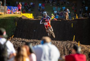 Chase Sexton wins the Lucas Oil Pro Motocross Championship race at Washougal MX Park in 2021. Photo by Align Media.