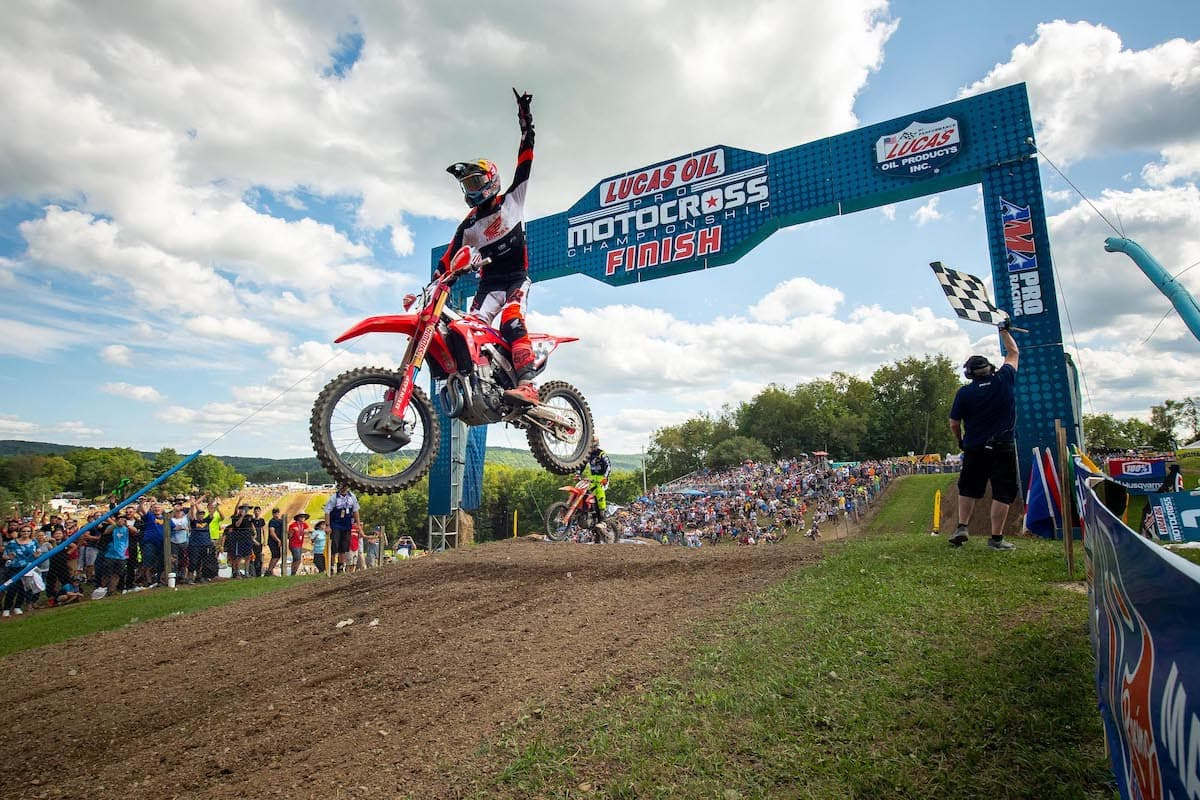 Ken Roczen enjoyed a dominant sweep of the motos at Unadilla en route to his second win of 2021. Photo by Align Media.