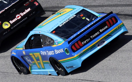 Chris Buescher pilots the No. 17 Fifth Third Ford for Roush Fenway Racing.