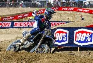 Christian Craig races at Maxxis Fox Raceway 2 for Round 11 of the 2021 Lucas Oil Pro Motocross Championship. Photo by Rachel Schuoler / Kickin' the Tires.