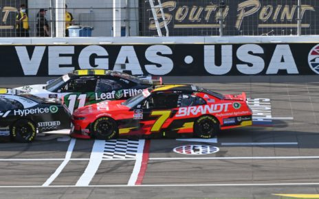 Justin Allgaier finishes second in the Alsco Uniforms 302 at Las Vegas Motor Speedway in the NASCAR Xfinity Series Playoffs opener. Photo by Jerry Jordan / Kickin' the Tires.