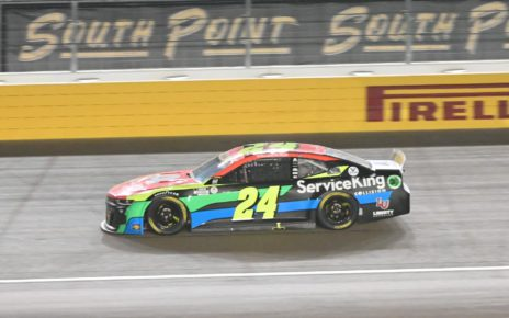 William Byron finishes 18th in the 2021 South Point 400 at Las Vegas Motor Speedway in the NASCAR Cup Series Round of 12 Playoff race. Photo by Jerry Jordan / Kickin' the Tires.
